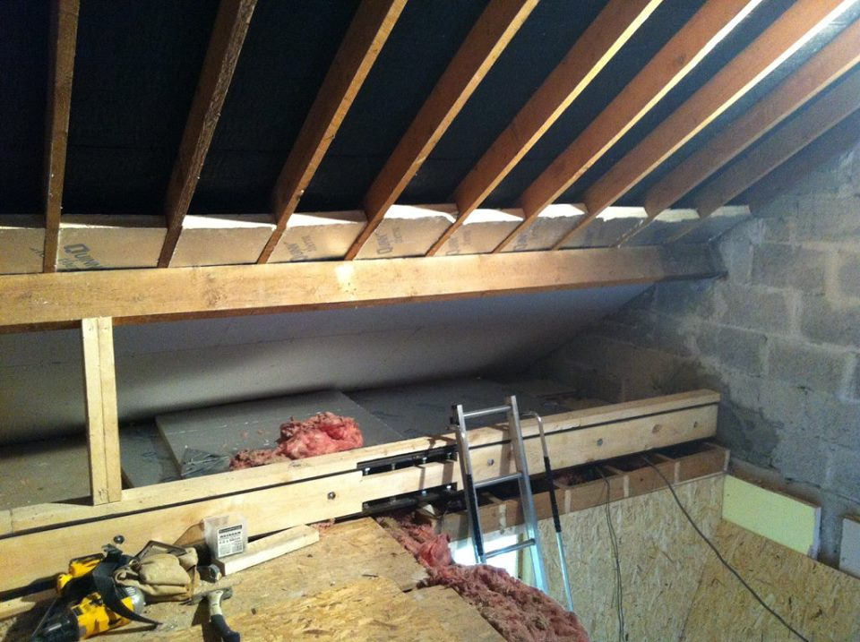 Attic conversion floor work