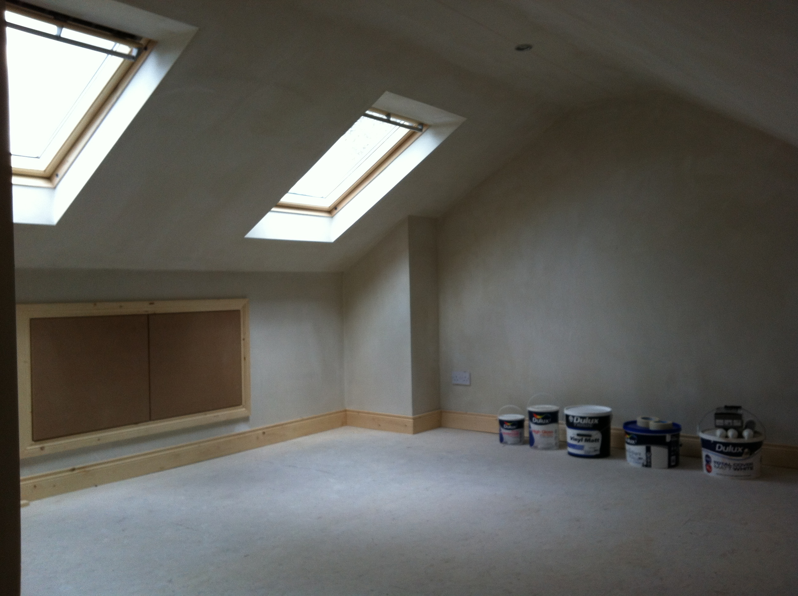 Attic conversion floor