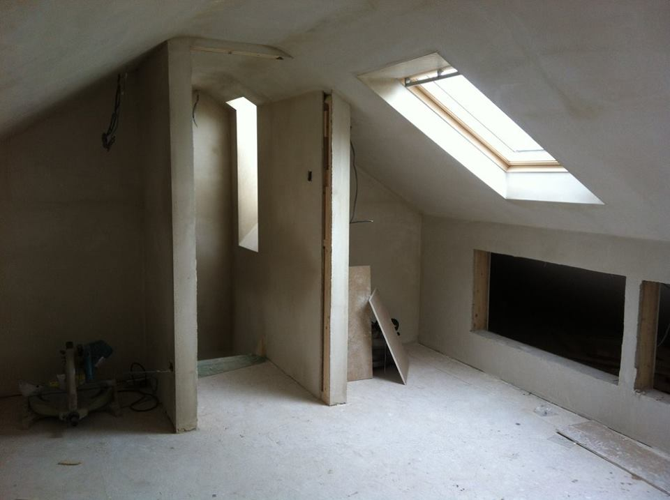 Attic conversion interion work door