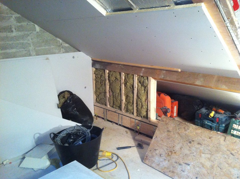 Attic conversion roof insulation