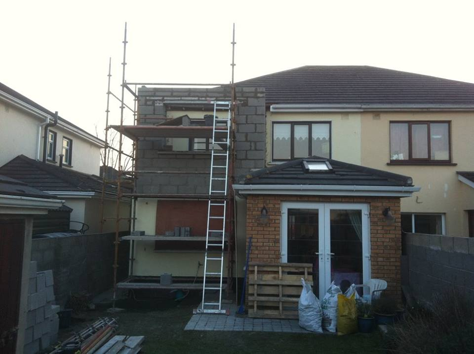 Second story extension work 2 floor