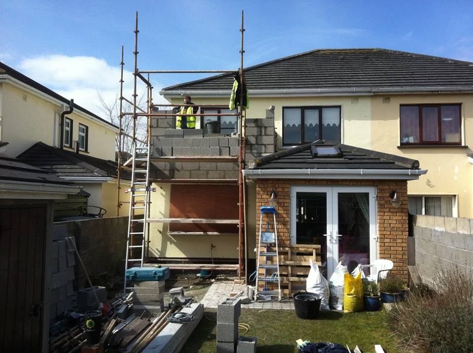 Second story extension work