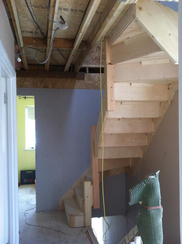 Staircase to the attic floor
